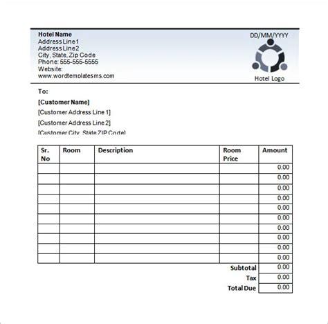 hotel receipt templates receipt template invoice