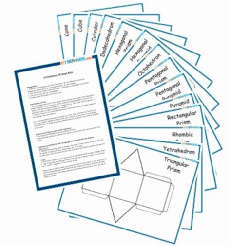 3d templates 14 templates 3d shape nets special education resources