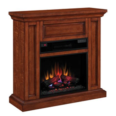 shop chimney free 40 in w cherry wood electric fireplace