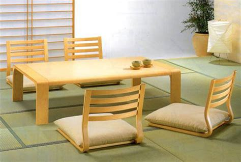 Meja Jepang mission style living room furniture dining room furniture for minimalist japanese style
