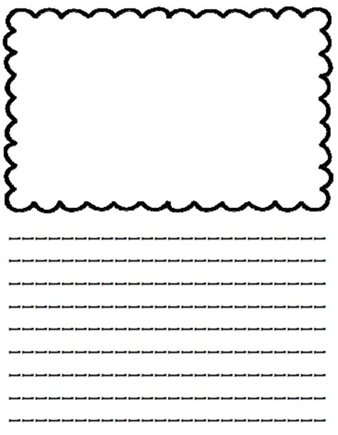 free printable lined paper with picture box mrs black s bees writing paper with picture boxes