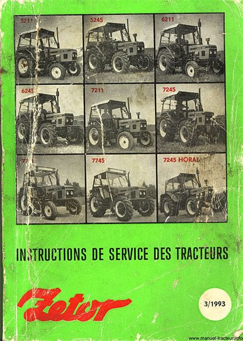 Guide Instructions Zetor 5211 5245 6211 6245 7211 7245