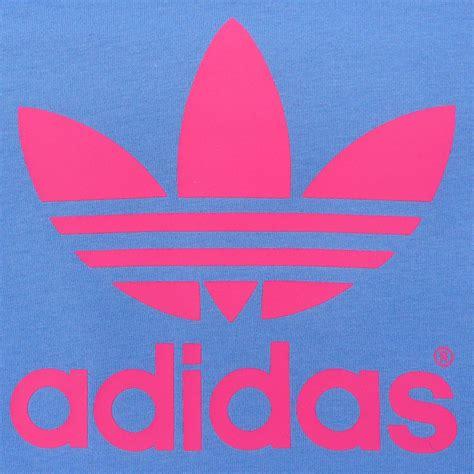 Adidas Colour Logo Blue Turkis adidas originals ac trefoil children s s t shirt light blue pink 92 140 ebay