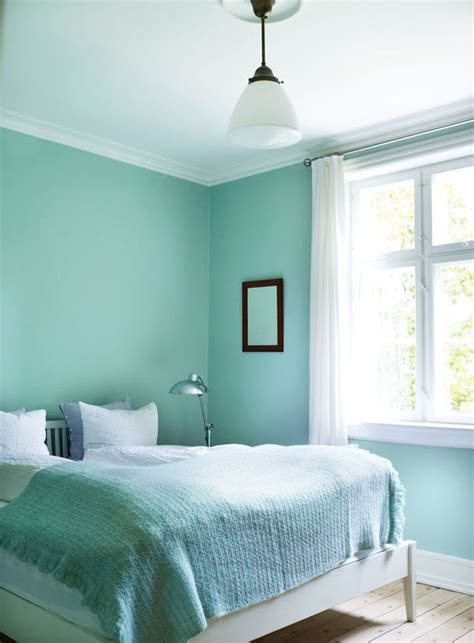 scandinavian mint bedroom interiors  color