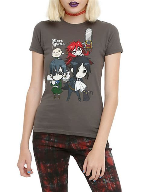Anime Merch by Shirt Black Black Butler Anime Topic Wheretoget