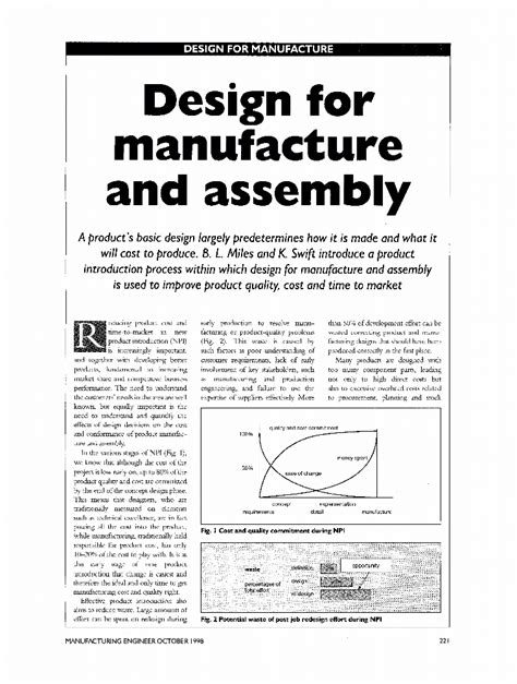 design for manufacturing journal design for manufacture and assembly iet journals magazine