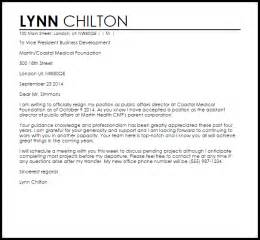 Resignation Letter For Transfer Within The Same Company