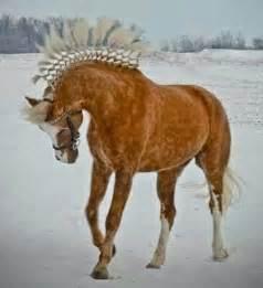Dappled Palomino Horse