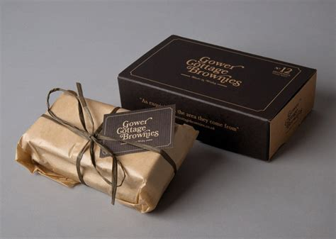 gower cottage brownies gower cottage brownies the dieline packaging