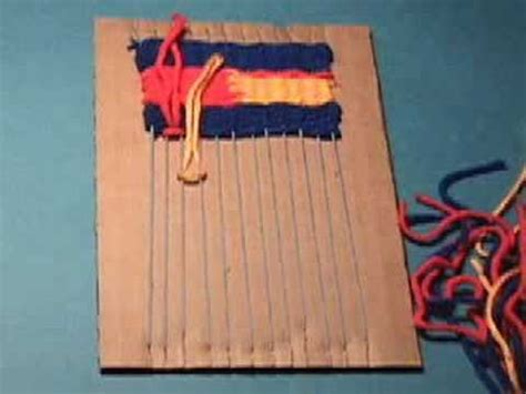weaving   cardboard loom youtube