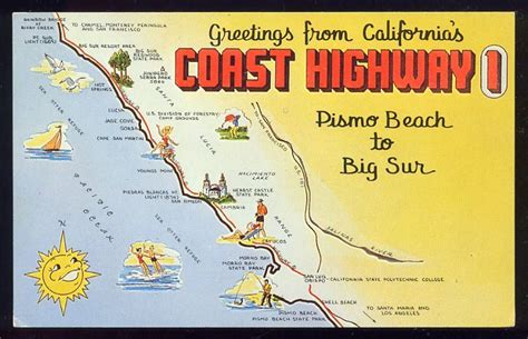 california map route 1 highway 1 california map