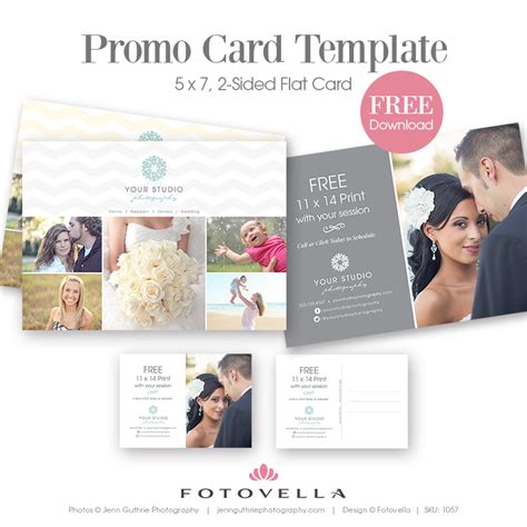 promotional cards templates photography marketing template quot grigio quot studio promo card
