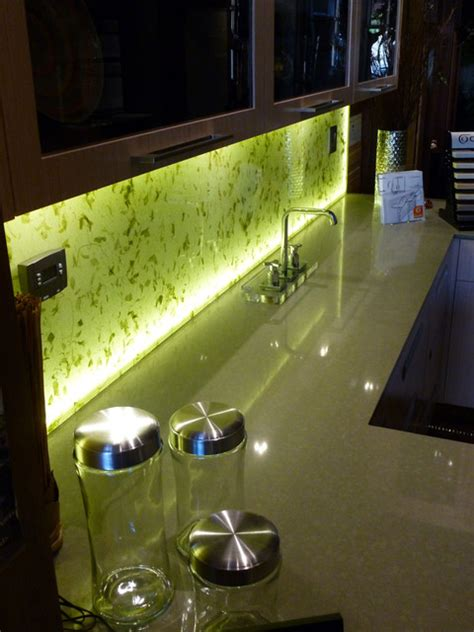 led backsplash led backsplashes illuminated kitchen backsplash with rice paper leaves into