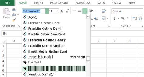 membuat barcode excel cara membuat barcode dengan microsoft office excel