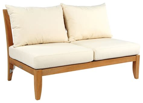 armless settees ipanema sectional armless settee by kingsley bate