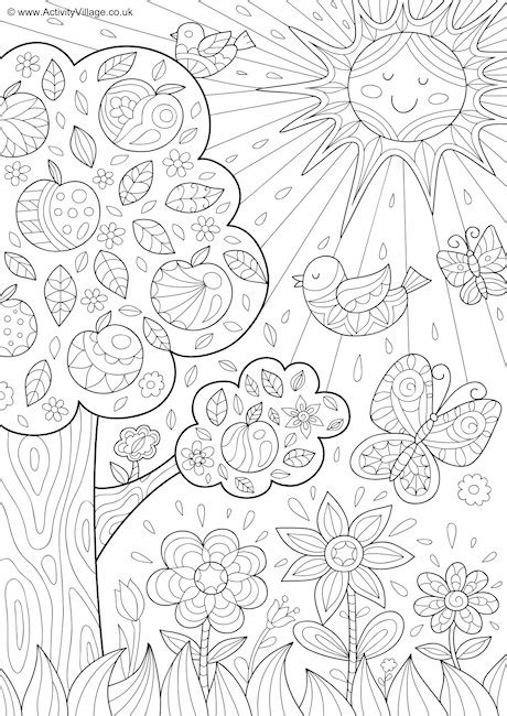 summer coloring pages activity village summer colouring pages activity village summer doodle fun