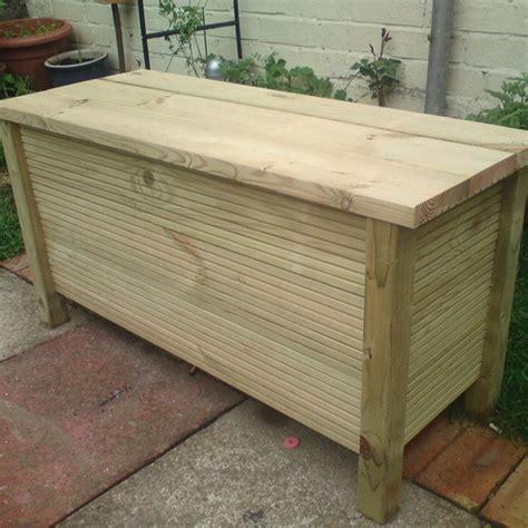 Handmade Garden Bench - handmade wooden garden storage bench