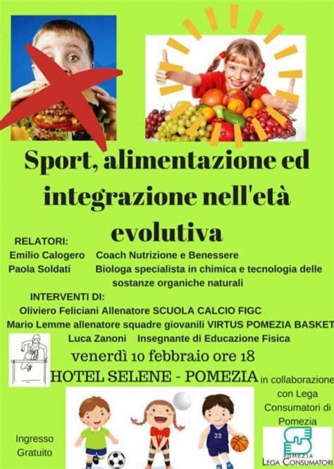 sport alimentazione sport e alimentazione a pomezia l incontro gratuito