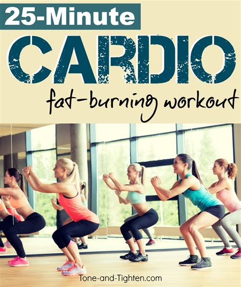 25 minute cardio burning workout that you can do at
