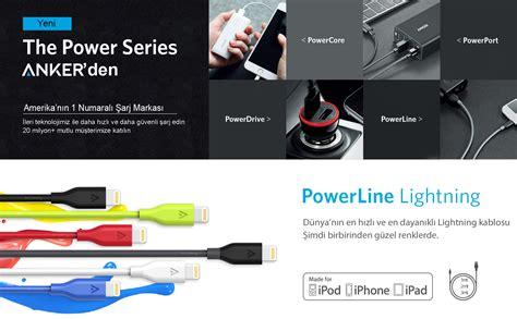 Bundling Anker Powercore Speed 10000 Qc Powerline Lightning 3ft Blue gega elektronik anker powerline lightning to usb kablo 1 8 mt gri