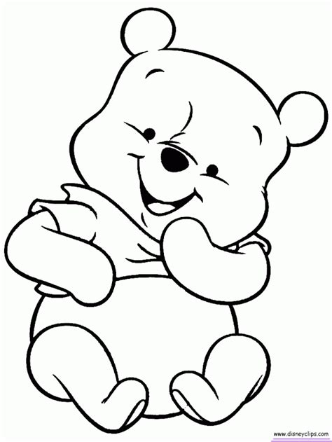 Baby Pooh Coloring Pages baby winnie the pooh and friends coloring pages az