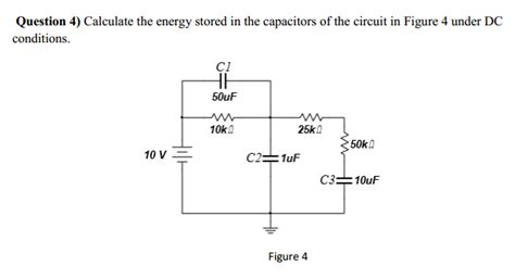 capacitor energy storage circuit calculate the energy stored in the capacitors of t chegg