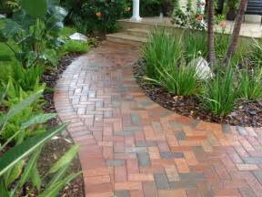 brick walkway traditional landscape ta by