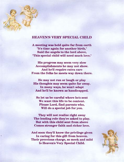 s poem heaven s special child