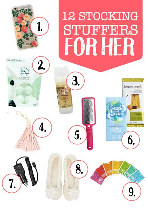 Stocking Stuffer Ideas For Her | stocking stuffer ideas for him and her one lovely life
