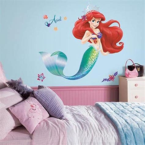 disney princess wall decals for rooms large disney princess wall decals the mermaid