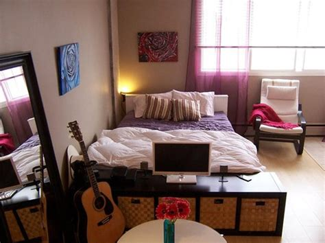 Bedroom Designs For Small Apartments Cool And Small Apartment With Bedroom Design
