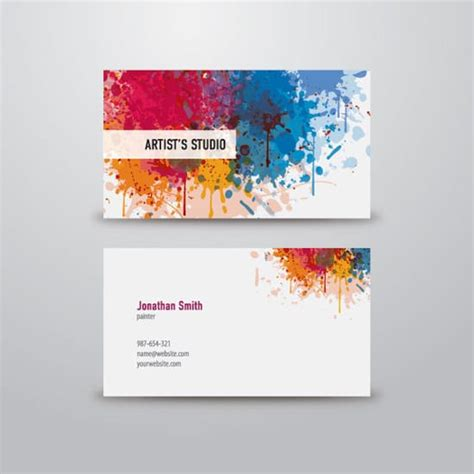 artist business cards templates 100 free business card templates designrfix