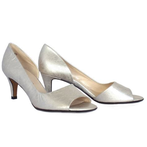 kaiser jamala open toe shoes in silver leather