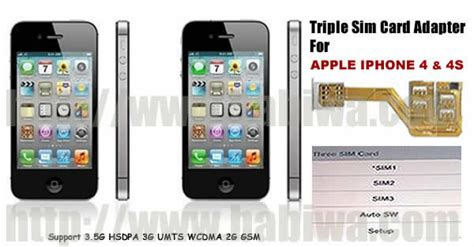 sim adapter of apple iphone 4 4s 3 simcard holder for apple iphone 4 4s support