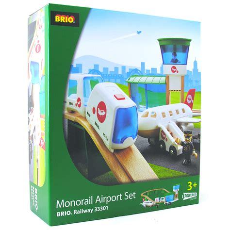brio sets brio 33301 monorail airport set wooden railway set new