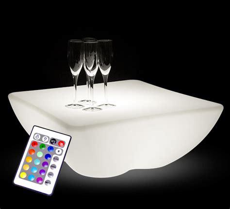 Lu Led Fleksibel 60 Cm table basse lumineuse led 60 x 60 cm carr 233 e ext 233 rieure sans fil 109