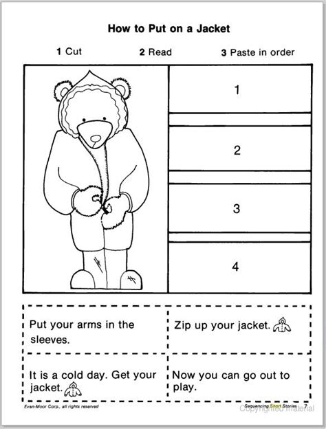 free printable preschool sequencing activities short story sequencing cut paste learningenglish esl