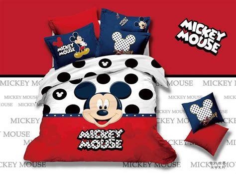 Bed Cover Set Mickey Polka 120x200 popular mickey mouse comforter sets buy cheap mickey mouse comforter sets lots from