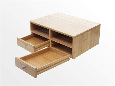 desk with drawers and printer shelf desktop printer stand bamboo office furniture office