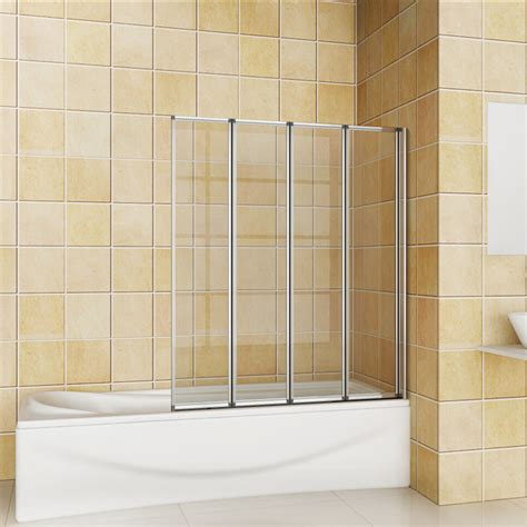 folding bathtub shower doors 900x1400mm 4 fold folding chrome bathroom shower bath