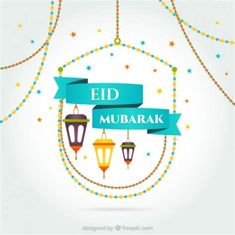 eid card templates psd eid mubarak card vector free