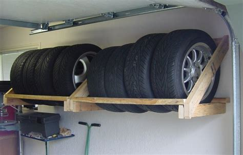 Tire Rack Design by How To Store Tires In The Garage Garagespot