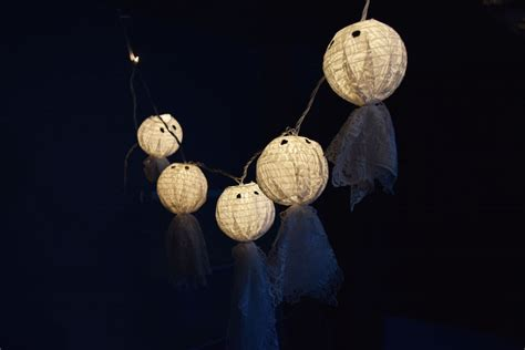 How To Make Paper Lantern String Lights - diy paper lantern string lights ghosts