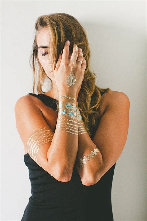via hair offers flash metallic temporary tattoos best 25 metallic temporary ideas on