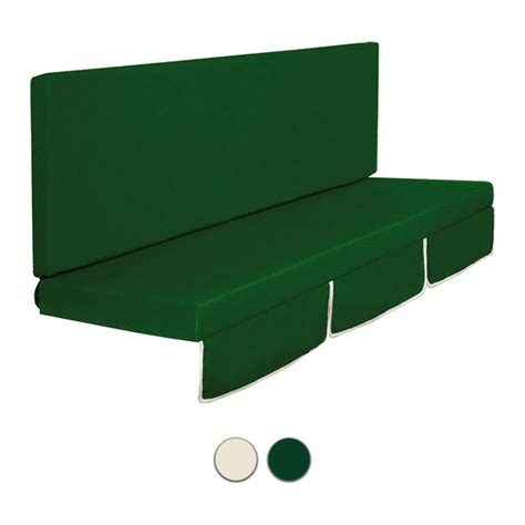 cuscini per dondolo 3 posti cuscino dondolo mod larice a 2 o 3 posti colore verde o