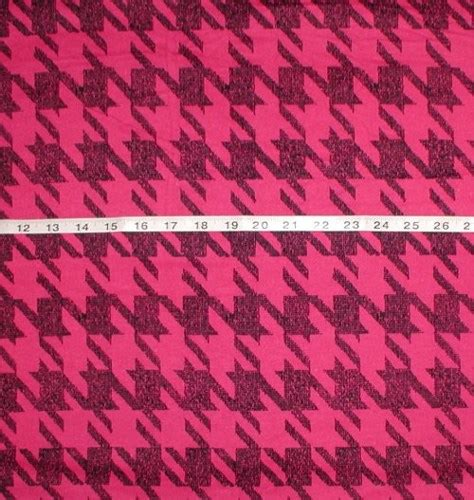 pink houndstooth pattern pink and black houndstooth fabric flannel big print unique