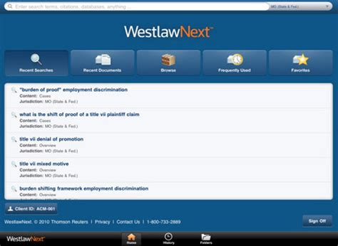 Free Westlaw Search Thomson Reuters Unveils Westlawnext App For Lawyer On The Go Intomobile