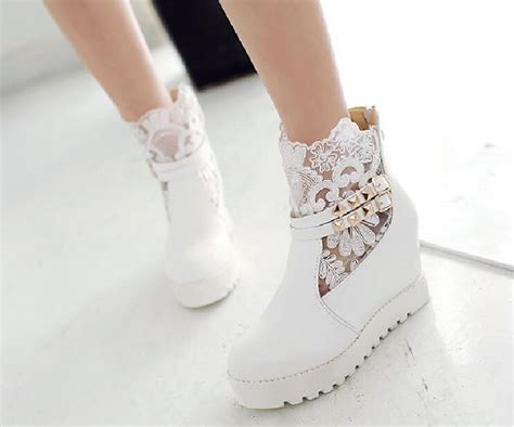 Wedding Shoe Boots by Fall Winter Lace Wedding Shoes Bridal Boots Bridal Shoes