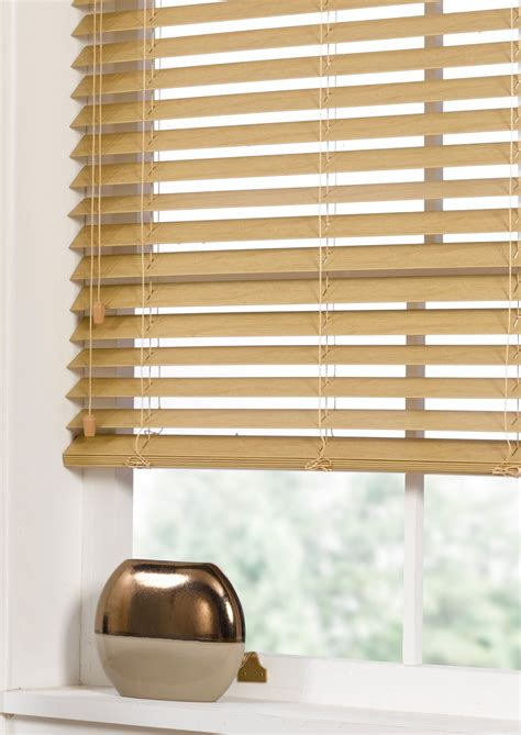 Ready Made Venetian Blinds by Faux Wood Venetian Blind Oak Contemporary Ready Made