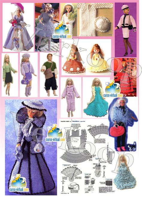 ropa de munecas vestidos patrones moldes especial barbie curso virtualcom